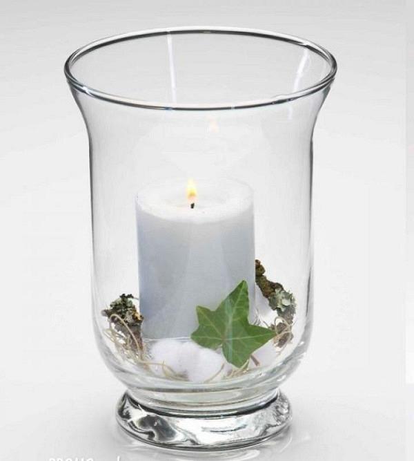 Vase verre clair 14x19cm