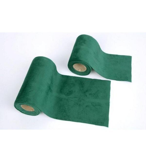 Ruban velours vert 10cmx5m (1)