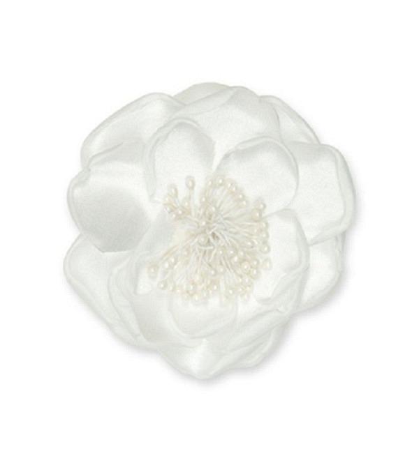 Fleur accessoire blanc D9cm (4)