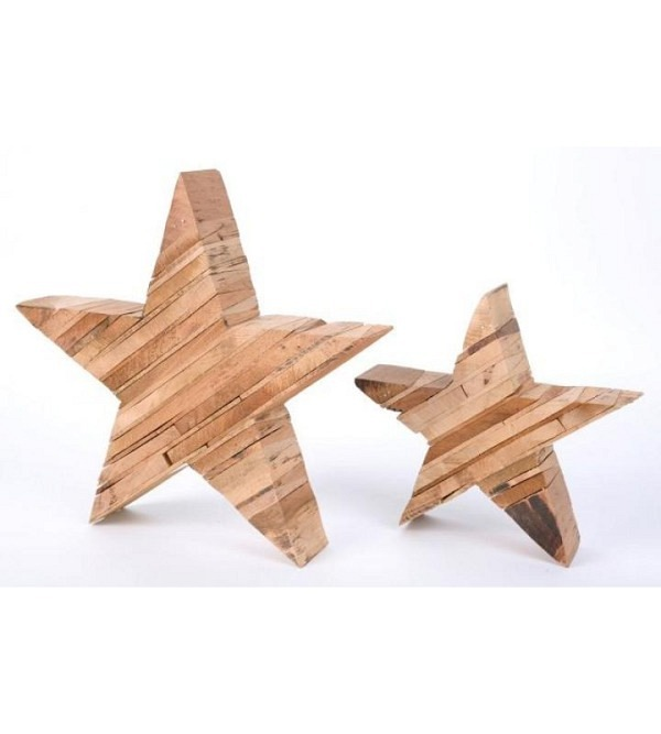 Stern Holz natur 29x6x28cm (1)