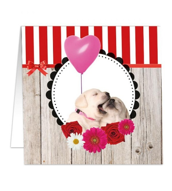 Carte Dog's heart 8x8cm (1)